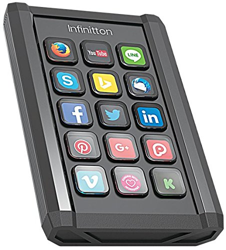 Infinitton Smart Programmable Keypad - Speed up Your Workflow Customizable Keys Featuring Full Color Backlit LCD Windows Mac