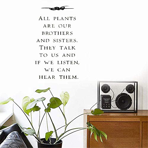 Quote Mirror Decal Quotes Vinyl Wall Decals All Plants are Our Brothers and Sisters for Living Room Bedroom -