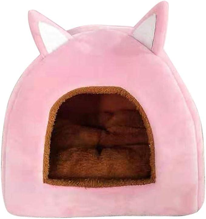 Qianbo Nido de Mascotas 2-en-1 Cama Nido para Perros Gatos Casa Sof/á de Perro Gato C/álido Cueva de Dormir Plegable para Mascotas Gris L