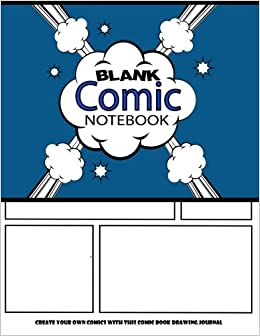 blank comic notebook create your own comics with this comic book drawing journal big size 85 x 11 large over 100 pages to create cartoons comics blank comic books volume 8