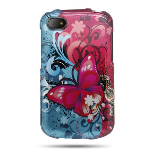 CoverON Slim Hard Cover for Blackberry Q10 with Case Removal Tool - (Butterfly Bliss)