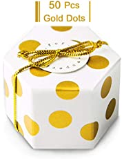 GAKA Candy Box Bulk 2x2x2 inch with Ribbon