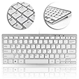 Best Mini Keyboard For PC Macs - TNP USB Mini Keyboard (Metallic Silver / White) Review