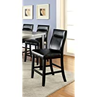 Furniture of America Domoni Leatherette Pub Chair, Set of 2