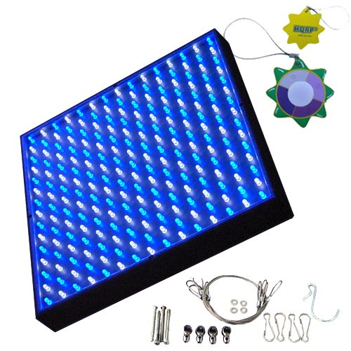 HQRP Blue + White Aquarium Reef Corals Grow LED Light Panel 13.8W 112 White + 113 Blue LED 7000K / 460 nm + UV Meter