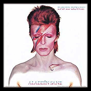 David Bowie Aladdin Sane 12 Album Cover Framed Print Wood Multi Colour 32 X 32 X 1 5 Cm Home Kitchen Amazon Com