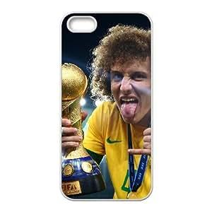 David Luiz iPhone 5 5s Cell Phone Case White Ekjgf