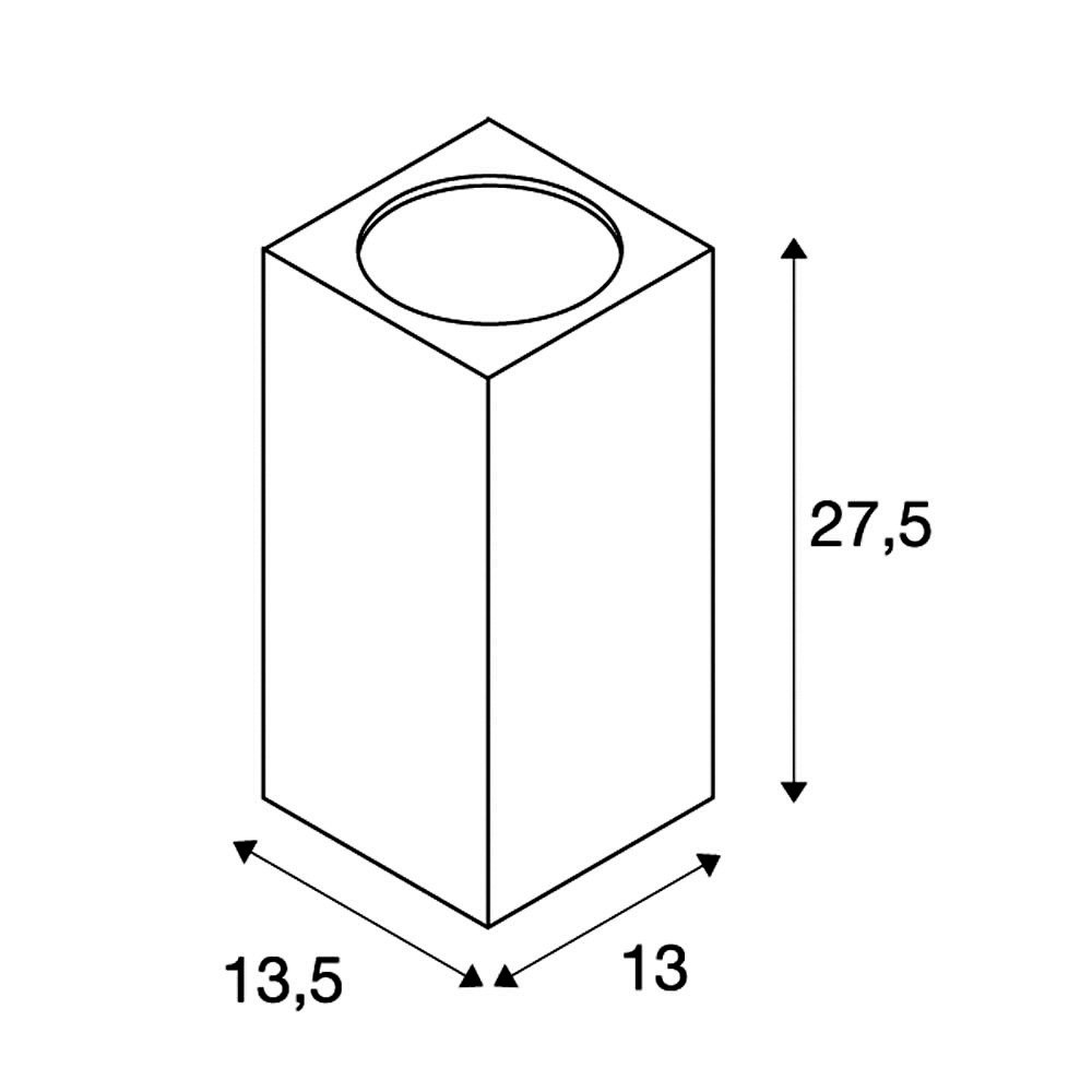 SLV BIG BIG BIG THEO CEILING Leuchte Aluminium Glas Schwarz fd2c96