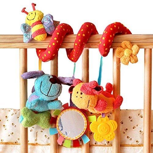 Animal Handbells Developmental Toy Bed Bells Kids Baby Soft Toys Rattle Lovely