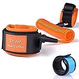 SENHAI Child Anti Lost Velcro Belt & Blue LED Slap Bracelet, Safety Bracelet Leash Wristband for Toddling Traveling Walking