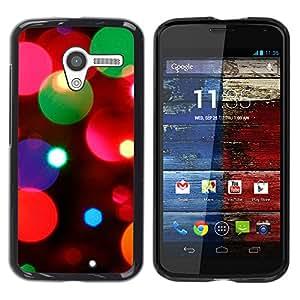 MOBMART Carcasa Funda Case Cover Armor Shell PARA Motorola Moto X 1 1st GEN I - Beautiful Crystal Lights