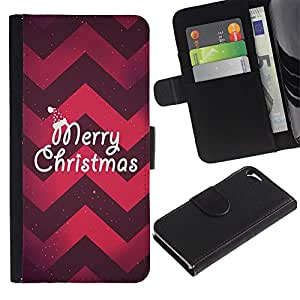 TaiTech / - Navidad Chevron rojo púrpura de Navidad - Apple Iphone 5 / 5S
