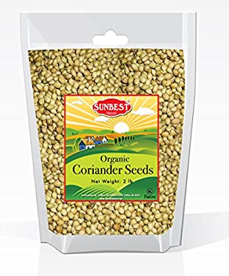 Sunbest Organic Coriander Seeds In Resealable Bag (2 Lb)