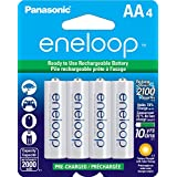 Panasonic BK3MCCA4BF Eneloop AA New 2100 Cycle Ni-MH Pre-Charged Rechargeable Batteries, 4-Pack