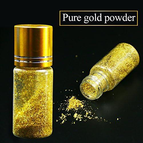 24 K Real Hojas De Oro Comestible Lámina Roto Cuidado De La Piel Polvo 0 1 G Arte Manualidades Y Costura Amazon Com