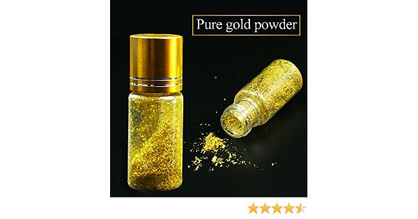 Amazon Com 24 K Real Hojas De Oro Comestible Lámina Roto Cuidado De La Piel Polvo 0 1 G Arte Manualidades Y Costura