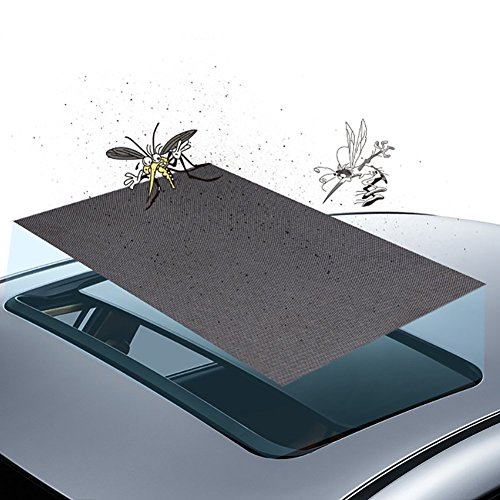 Sundlight Car Mosquito Net, Car Sunroof Magnetic Screens Net Anti-Pets Block UV for Iron Roofs of 90cm x 50cm Ordinary SUV Vehical