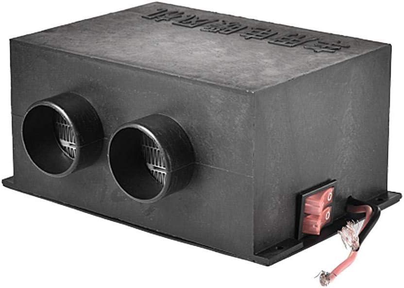 500W 12V // 24V Schwarz 150x120x86mm everyday Elektroheizung Entfroster Zweilochheizung Earthily Auto Heizung