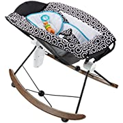 Fisher-Price Deluxe Rock 'n Play Sleeper by Jonathan Adler, Black/White