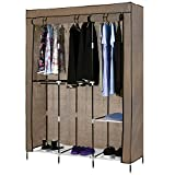 Kaluo 49'' Portable Free Standing Wardrobe Closet with Cover (Brown)