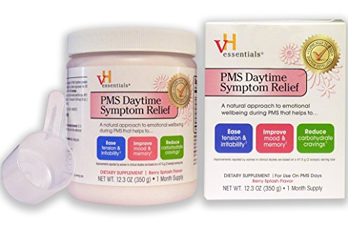 - PMS Relief Supplement - vH essentials PMS Daytime Symptom Relief Supplement, 12.3 Ounce