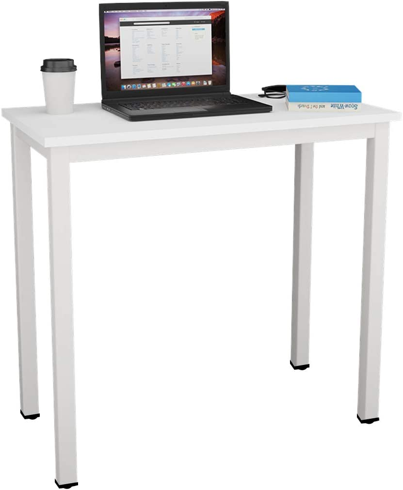 Need Small Computer Desk 31.5 inches Sturdy Writing Desk for Small Spaces, Small Desk Teens Desk Study Table Laptop Desk,White AC3-8040-DW