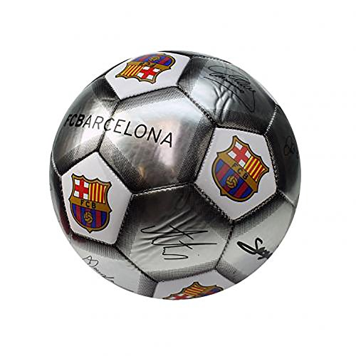 F.C. Barcelona Official FCB Skill Ball Signature Special Edition -White/Silver
