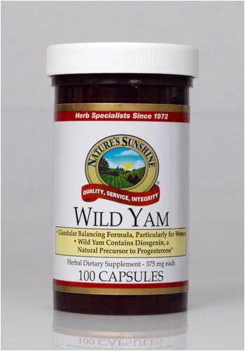 Naturessunshine Wild Yam Glandular System Support 375 mg 100 Capsules (Pack of 12)