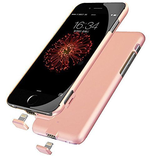 iPhone 6/6S/7 Plus Battery Case, Ultra Slim Extended Battery Charging Case for iPhone 6 / 6s/7 Plus (5.5 inch) with 2000mAh Real Capacity(Pink)