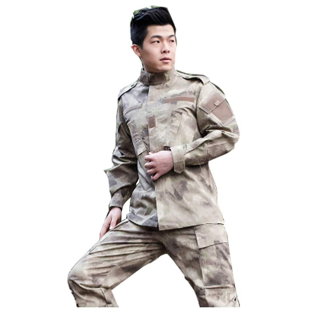 Desert Camo Tactical Suit, Herren-Tarnkampfkampfhemd mit Hose Uniform War Game Army Military Paintball Airsoft Jagdschießen Tarnanzug (größe : XL(185-190))