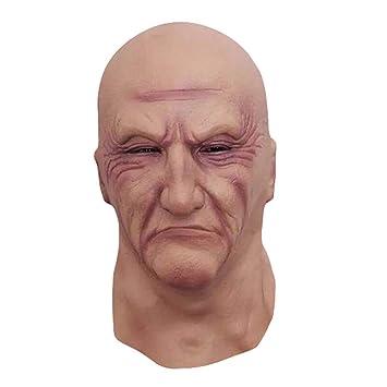 Emorias 1 Pcs Máscara de Halloween Frankenstein Fantasma Látex Cabeza Maquillaje Fiesta de Baile