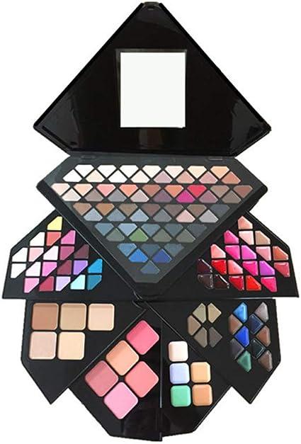 MWJK® Sombras de Ojos Kit,130 colores paleta de sombra de ojos Profesional eyeshadow palette Paleta de Maquillaje Cosmética con Color Cálido y Frío Maquillaje Set Maquillaje Profesional Caja: Amazon.es: Belleza