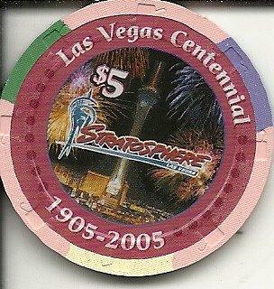 - $5 stratosphere casino las vegas casino chip centennial obsolete
