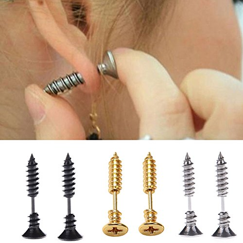 yueton Unisex Stainless Piercing Earrings