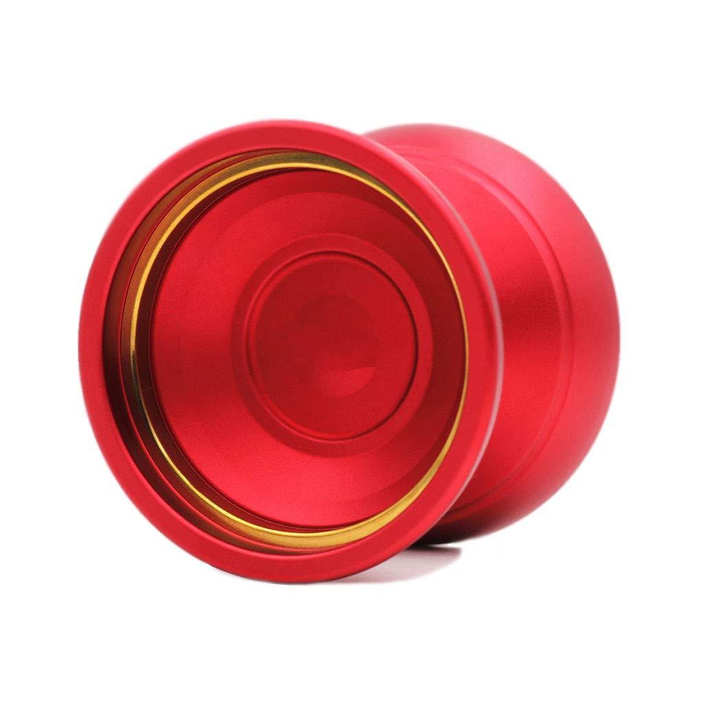 プロフェッショナルなゲームレスポンス初心者のスピードボールリターンロングローテーション合金ヨーヨー ( Color : Red ) B07H2BPK9D
