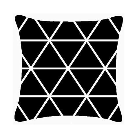 Sofá almohada, almohada de terciopelo suave, blanco y negro ...