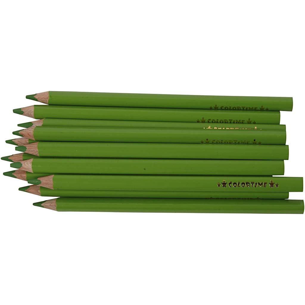 mina: 5 mm, 12 unidades L/ápices de colores Colortime color verde claro