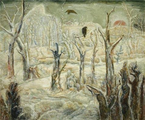 - Oil Painting 'Albert Bloch,Winter In The Dead Wood,1934-1938' 8 x 10 inch / 20 x 25 cm , on High Definition HD canvas prints is for Gifts And Bed Room, Laundry Room And Nursery Decoration