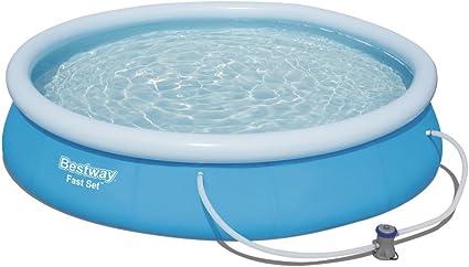 Bestway Fast Set 57274 - Piscina (Piscina Hinchable, Círculo, 5377 L, Azul, 61 cm, PVC): Amazon.es: Juguetes y juegos