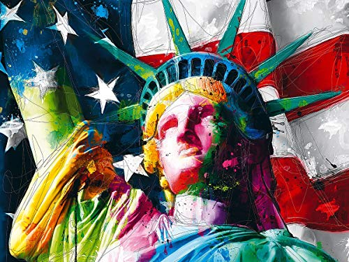 KOTART 16x20 Diamond Art Painting Kit for Adults  Full Drill Statue of Liberty USA Flag DIY Arts & Crafts Artwork Decor Gift Set with Crystal Rhinestone, diamond cross stitch patterns Creative Relax