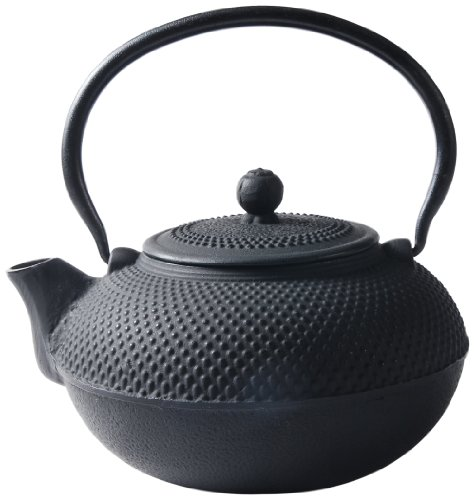 Old Dutch Cast Iron Saga Teapot, 52-Ounce, Black
