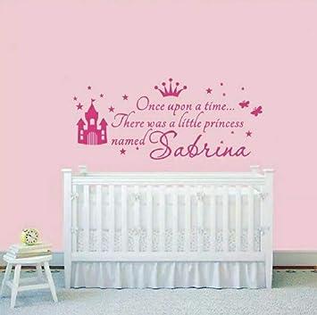 Nombre de Niñas personalizado Etiqueta de La Pared Princesa ...