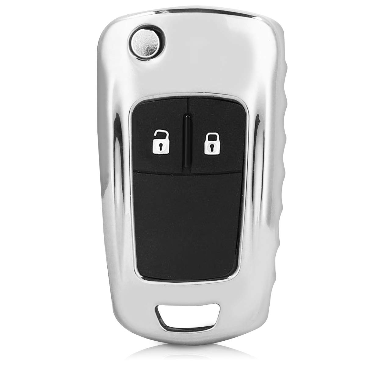 Suave Carcasa para Llaves Cover de Mando y Control de Auto en kwmobile Funda para Llave Plegable de 2-3 Botones para Coche Opel Vauxhall de Rosa Oro Brillante TPU