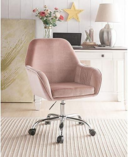 SSLine Home Office Velvet Chair,Modern Swivel 360 Upholstered Adjustable Desk Chair