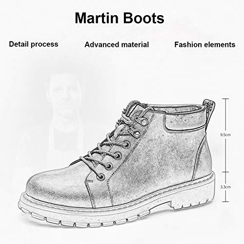 Gentle Verni 2018 Bottes Bottines Lacets Base Cuir Imperméable Brown Genboots Automne Martin Hommes FvPaU