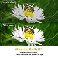 SAMTIAN 48 Macro LED Ring Flash Light with LCD Display Adapter Rings and Flash Diffusers for Canon 750D 760D T6i 550D 600D 650D 700D Nikon D500 D5500 D750 D7100 D7200 D800 D800E D810 Sony A6300 A6000 from SAMTIAN