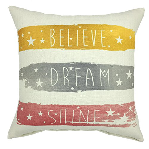 (YOUR SMILE- Phrase Cotton Linen Square Cushion Covers Throw Pillow Covers Decorative 18 x 18 (C05))