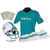 Franklin Sports NFL Miami Dolphins Youth Licensed Deluxe Uniform Set, Large