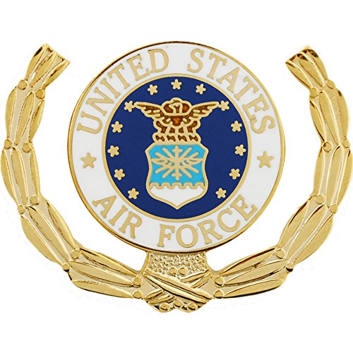United States Air Force Logo Wreath Pin Military Collectibles for Men Women