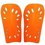 elegantstunning 2pcs Soccer Shin Guard Pads Soft Football Cuish Plate Breathable Shinguard Leg Protector for Men Women